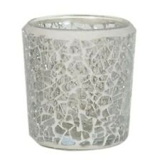 Glass Mosaic Votive Holder - Clear Lustre G25214