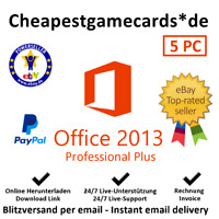 Microsoft Office 2013 Professional Plus MS Office PRO for 5 PC key per email