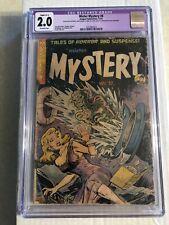 Mister Mystery #8 CGC 2.0 slight C-1 OW 1952 pre-code horror PCH headlights