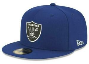 Official NFL Oakland Raiders Basic Fashion Blue New Era 59FIFTY Fitted Hat