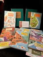 American Geographical Society Around The World Program 10 Books 2 Slipcase Boxes
