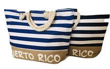 Puerto Rico Isla Del Encanto Beach Bag Tote Zip Closure Gift Souvenirs 20x11x6