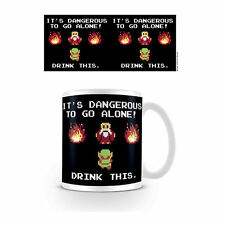 LEGEND OF ZELDA DANGEROUS DRINK THIS MUG CERAMIC COFFEE CUP RETRO ARCADE GAME