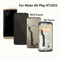 Pour Motorola Moto G6 Play XT1922 LCD Écran vitre tactile Display Cadre noir h2