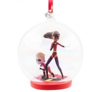 Disney Store 2017 The Incredibles Glass Globe Sketchbook Ornament New With Tags