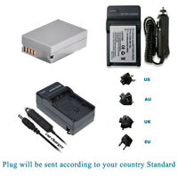 Replacement Battery NB-10L NB10L +Charger Kits for Canon Powershot Cameras