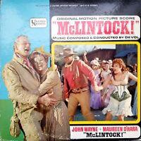 McLINTOCK! Original Motion Picture Vintage Vinyl Record 1963 LP VG+ UAS 5112