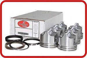 Flat-Top Pistons /& Cast Rings 4 77-91 Ford Ranger//Aero//Courier 140 2.3L SOHC L4