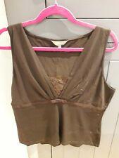 Gharani Strok Brown sleeveless top Size 18