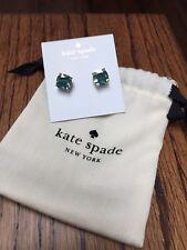 NEW Kate Spade Enamel Small Square Stud Earrings Teal Blue