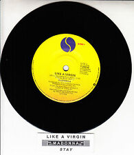 "MADONNA  Like A Virgin & Stay 7"" 45 rpm vinyl record + juke box title strip"