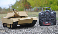 Heng Long 1/16 M1A2 Abrams RC Tank With Smoke, Sound and BB Gun - 2.4GHz Version