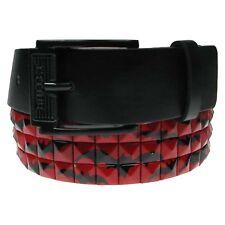Mens Womens Bat Print Studded Fashion Belt Press Stud Removable Buckle