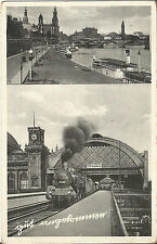 In Dresden gut angekommen! Eisenbahn, Lokomotive,Bahnhof, Elbe-Dampfer Leipzig