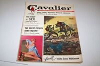 FEB 1960 CAVALIER mens adventure magazine JUNE WILKINSON