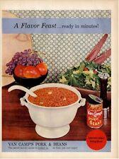 1957 Van Camp's Pork and Beans Dinner Setting PRINT AD