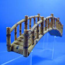 Bamboo Bridge 17.2cm resin Aquarium OrnamentDecoration fish tank cones cave pet