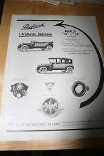Publicité Ancienne automobile voiture Packard US Car 1913