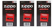 ZIPPO Docht Ersatzdocht für Zippo Feuerzeug 3 Stück NEU OVP