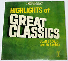 Philippines JUAN SILOS JR. Highlights Of Great Classics SEALED OPM LP Record
