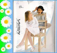 KOMMUNION festliche Mädchen Strumpfhose weiß beige glatt Blumenm��dchen Knittex