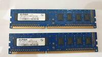 ELPIDA 2x 1GB= 2GB RAM MEMORY DDR3 1RX8 PC3-10600U-9-10-A0 EBJ10UE8BDF0-DJ-F hp
