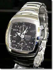SEIKO Premier Chronograph Alarm SNA105 SNA105P1 Men Black Dial 100m Watch