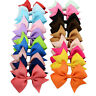 4'' Bow Baby Girls Hairpins Grosgrain Ribbon Hair Bow Alligator Clip  Boutique