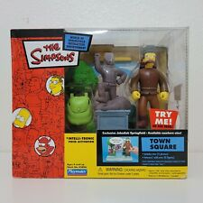 The Simpsons JEBEDIAH TOWN SQUARE World Springfield WOS Series 16 Figure Playset
