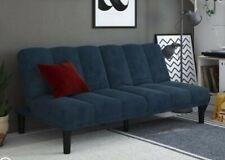 """New Blue small couch bed futon 71""""x36"""""""