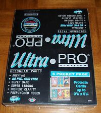New listing Factory Sealed Box Of 100 - 6 Pocket Pages For 3 Ring Binder - Medals - Cards