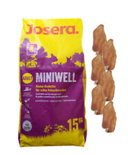 15kg Josera Miniwell Hundefutter +  6 x Kaninchenohren
