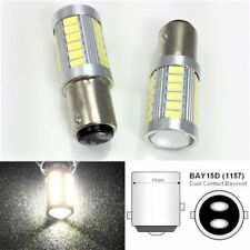 1157 2057 3496 7528 BAY15D P21/5W 33 LED Projector White Bulb Brake Lights B1 #1