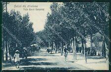 Rimini Riccione Viale Ceccarini Carrozze cartolina QT3440