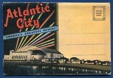 Atlantic City New Jersey nj postcard folder greatest resort