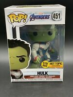 Funko Pop Marvel Avengers Glow in the Dark Hulk Hot Topic Exclusive Figure #451