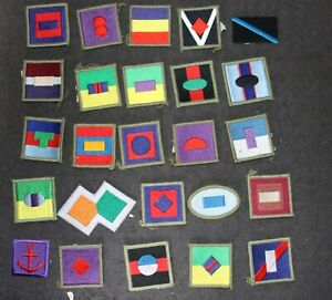 MODERN AUSTRALIAN ARMY COLOR COLOUR PATCHES DIVISIONAL FORMATION SIGNS X 25 #3