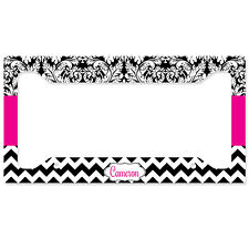 License Plate Frame, Car Tag Frame, Personalized Car Tag Frame, Monogrammed Pink