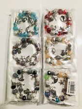 Wholesale 12 Pcs Lots Mix Color Random Ocean Charms Beads Bracelets Bangle Set