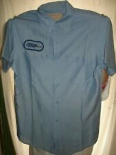 Vintage Blue Frontier Airlines Fleet Services Work Shirt Miller USA