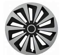 "Set di 4 15 ""UNIVERSALE WHEEL TRIMS copertura, Cerchioni, MOZZO, Tappi Per Adattarsi Smart + REGALO #H"
