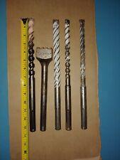 Sds dewalt powers Rotary Hammer Drill Bits lot