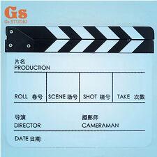 Acrylic Clap Clapper Clapperboard Board Director TV Film Movie Slate B/W EN/CN