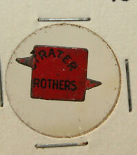 Vintage Strater Brothers Tin Tobacco Tag