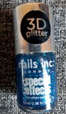 Nails Inc.Special Effects Connaught Square Blue 3D Glitter Nail Polish 10ml New