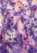 PURPLE/PINK ABSTRACT #5 - ORIGINAL PAINTING CANVAS MIXED MEDIA - STUDIO ANGELA