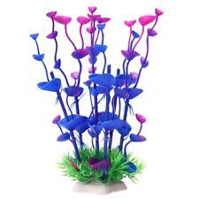 Purple Artificial Plastic Water Plants Grass Fish Tank Aquarium Ornament Decor