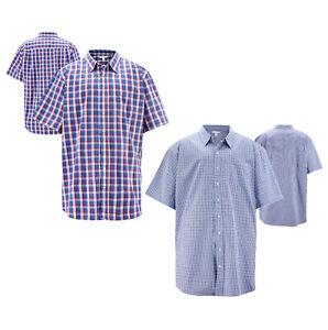 Men's Regular Fit Casual Plaid Cotton Button Down Checkered Short Sleeve Shirt