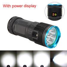 Neu Digitaler Bildschirm 15000LM 8xCREE XML T6 LED Flashlight Taschenlampe Licht