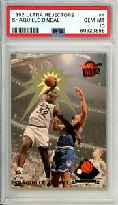 """1992 Ultra SHAQUILLE O NEAL R/C #4 PSA Graded 10 GEM MT Cond """"NO RESERVE Invest"""""""